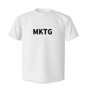 「MKTG」Tシャツ