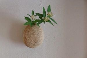 村上躍 125.白灰化粧花器