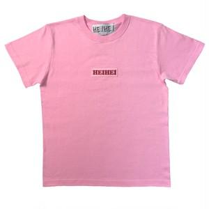 ロゴ刺繍Tシャツ PINK
