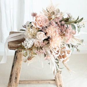 【再販】Peach color Bouquet & Boutonniere