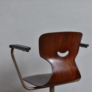 GALVANITAS Desk Arm Chair / ガルファニタス デスク アーム チェア〈デスクチェア・オフィス家具・プライウッドチェア〉112192