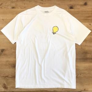 【USED】 電球 電飾 企業ロゴ サイエンス プリント Tシャツ 半袖