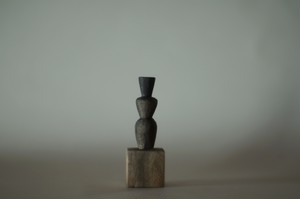 (018)wood figure-mini抽象台付_006