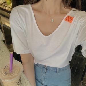 【トップス】ins人気韓国系ナチュラル高品質ゆったりファッション半袖Tシャツ