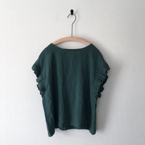 【 miho umezawa 】SUN DRY LINEN frill sleeve blouse