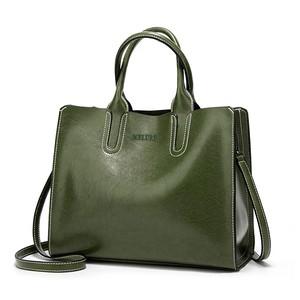 レディース PUレザーショルダーバッグ 毎日のショッピングに最適 トートバッグ ハンドバッグ White green