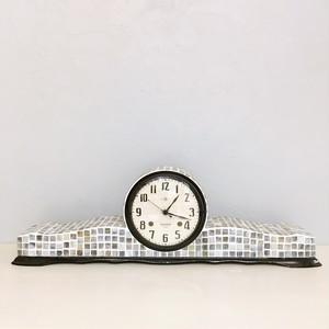 ガラスタイルのレトロ置き時計/CL-01