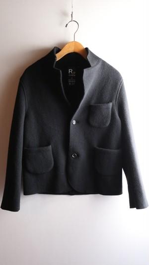 R and D.M.Co-/OLDMAN'S TAILOR ウールフェルトニットジャケット レディース BLACK【お問い合わせ商品】