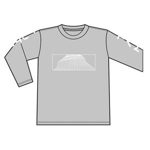 ロングTシャツ グレー
