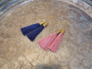 tassel pierced earrings <PETS-LPR/LPK>