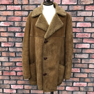 Vintage Glenhusky Of Scotland Sheepskin Coat UK44
