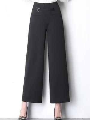 【bottoms】Casual elastic wide leg pants