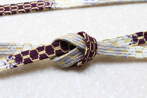 亀甲組 段染 紫・銀鼠