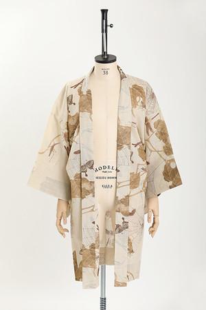 羽織 / 伊藤若冲 / 六脚 / Beige(With tailoring)