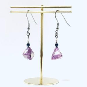 ピアス【折り紙】ちまき(6) 和柄 薄紫