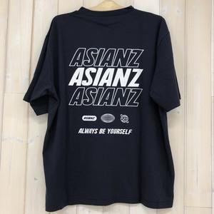 ASIANZ エイジアンズ 280931 3段ロゴTシャツ