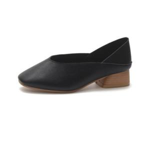 レディース 靴 スクエアヘッド靴 バブーシュ ブラック