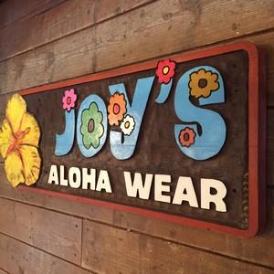 Vintage Hawaii Aloha Shirts Shop Wood Sign