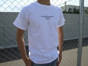ThreeArrows Message Tシャツ(vintage white)