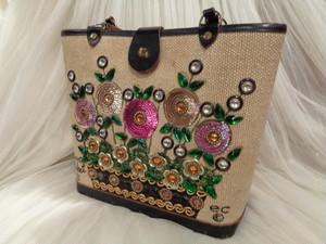 Collins bag flower basket Ⅵ vintage コリンズ バッグ  フラワーバスケット