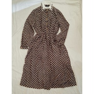 USED VINTAGE / CHECK PATTERN DRESS