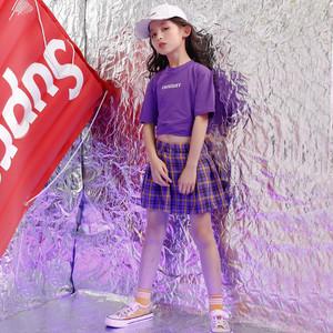 S5213キッズ ダンスウェア トップス 子供 子ども ショート丈 半袖 ダンス衣装 女の子 ジュニア ヒップホップダンス衣装 ジャッズ 身長110-180cm