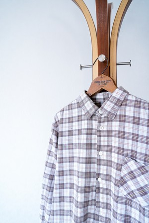 "【1950-60s】""French Made"" Euro Vintage Grandpa Shirts / v658"