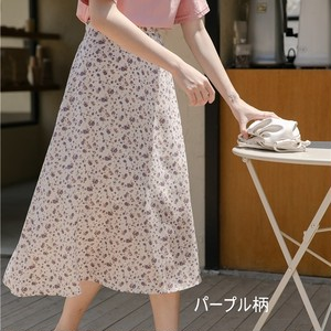 4-Color Floral Skirt T548