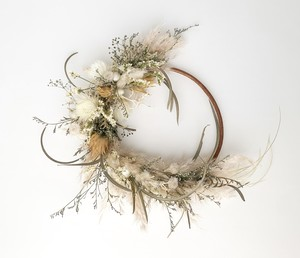 Pampas grass eucalyptus wreath