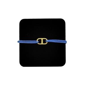 【無料ギフト包装/送料無料/限定】K18 Gold Anchor Chain Bracelet SkyBlue【品番 20S2003】