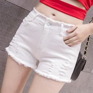 【ボトムス】ファッションシンプル無地エッジングネオギャル着瘦せ個性ショートパンツ30849307