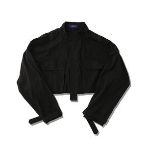SHORT MILITALY JACKET / BLACK