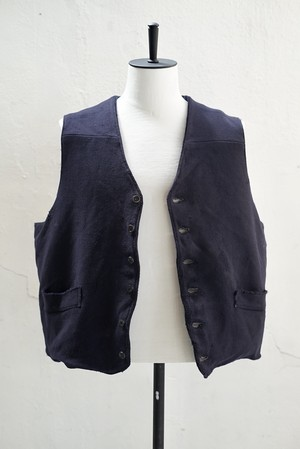 <SOLD OUT>Vintage - French Work Tattered Vest