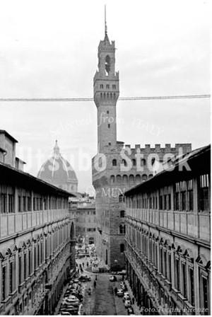 1960年撮影 ヴェッキオ宮殿 Palazzo Vecchio フィレンツェ【273196001】