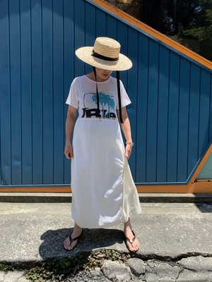 Used print Tee dress White / G