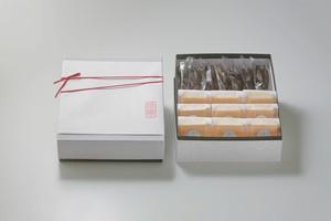 栗あんこ最中9個、特大黒糖かりんとう7本