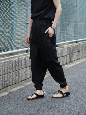 kujaku 石楠花(shakunage)pants black