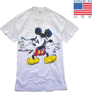 1点物◆USA製ビンテージ90sミッキーMICKEYプリントTシャツ古着メンズMLレディースOKアメカジ90sストリート/スポーツMix白Tアメリカ製419600