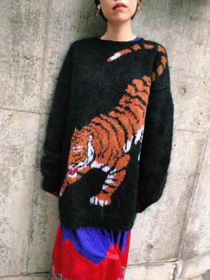 【別注】Tiger black mohair knit tops ( タイガー ブラック モヘア ニット トップス)