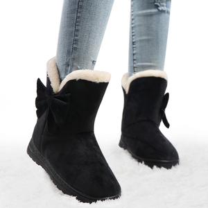 冬のブーツ女性の雪のブーツ女性の冬の靴女性プラットフォームブーツ女性蝶のブーツ暖かいアンクルブーツbottesファム2020
