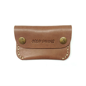 DOOM SAYERS - CORP GUY SLIM LEATHER WALLET (Brown Leather)