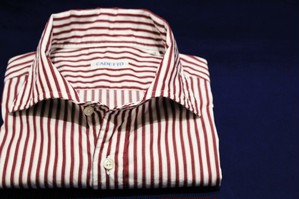 CADETTO ORIGINALS SHIRTS Bordeaux London Stripe