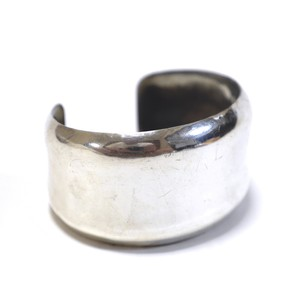 Navajo Vintage Sterling Silver Hammered Bangle by Elwood Reynolds