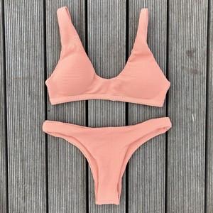 Bikini♡リブタンクビキニ ピンク