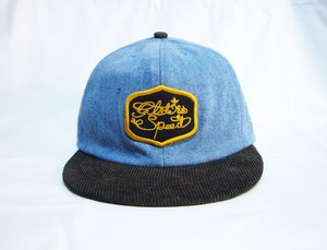 glide&speed patch   denim cap YOSHIDACAPS