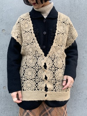 (TOYO) low gauge knit vest