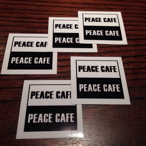 PEACE CAFE STICKER 5pcs