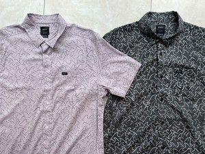 RVCA メンズシャツ  OBLOW WAVES SS