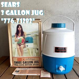 """シアーズ ウォータージャグ テッドウィリアムス 3ガロン ブルー ビンテージ 1960年代 """"776.71282"""" SEARS TED WILLIAMS 希少 レア 大容量 箱付き 美品"""