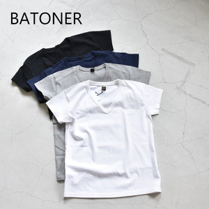 BATONER/バトナー・Pack V Neck T-Shirt